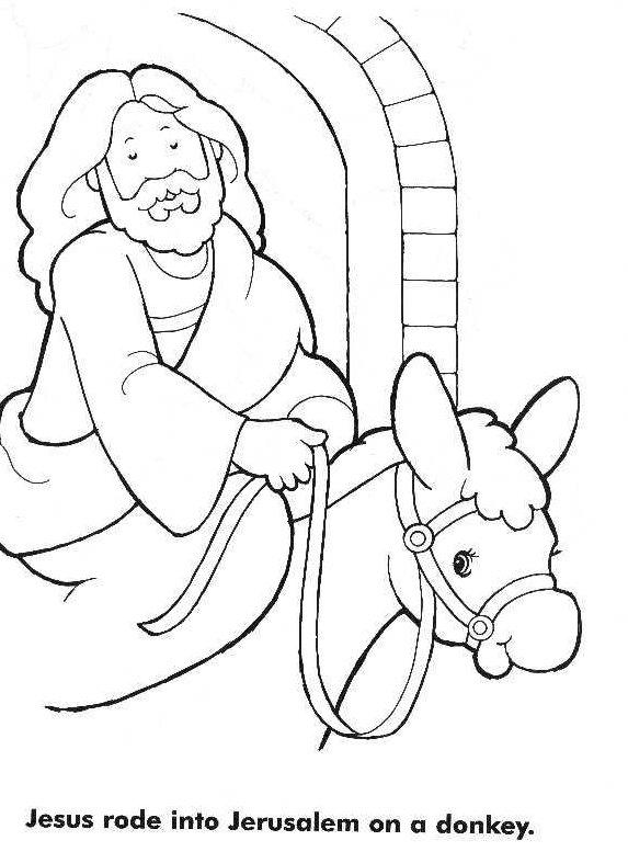 coloring pages jesus donkey jerusalem - photo#17
